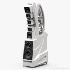 Wilson Audio WAMM Master Chronosonic Fuji Blanco 3D model 3D Model