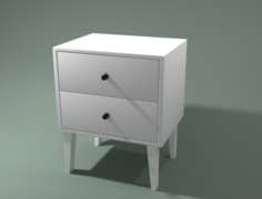 Bedside Table Free 3D Model