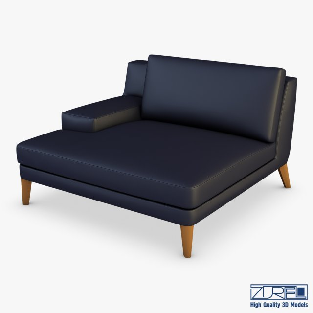 Roche bobois playlist large 3 seat chaise 3d model for Chaise roche bobois cuir