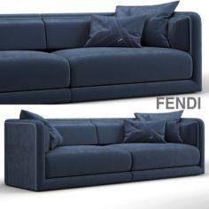 Fendi casa conrad maxi sofa blue 3D Model