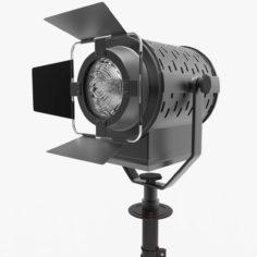 3D Spotlight with Tripod 3D Model