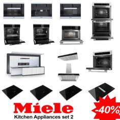 Kitchen Appliances Set – Miele Collection 2 3D Model