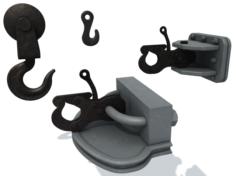 Set of ship hooks 3D Model
