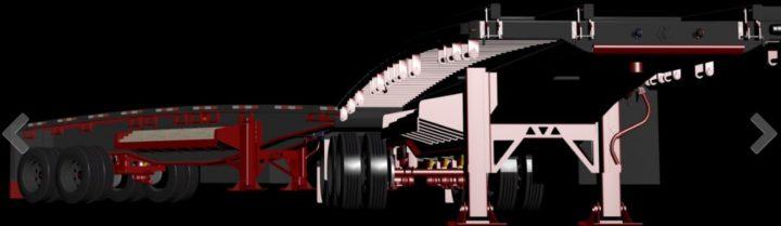 B-train Flatbed 3D Model