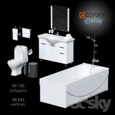 Large set for bathrooms                                      3D Model