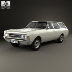Opel Rekord (C) Caravan 1967 3D Model