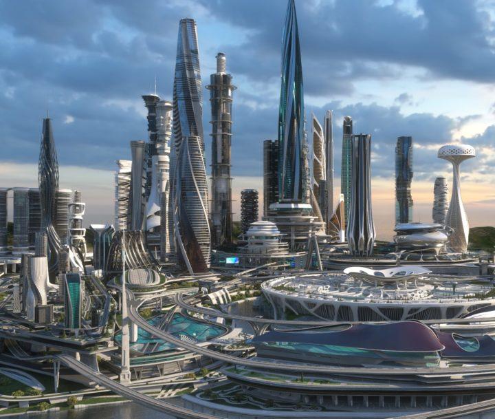 3D Central business district  Future city 3D Model - 3DHunt co