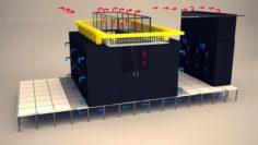 Data Communication Server Room 2 3D Model