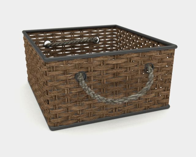 Woven Basket Building : Wicker basket d model dhunt
