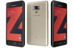 Samsung Z4 Black And Gold 3D Model