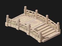 Cartoon City – Stone Bridge 18 3D Model