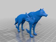 Okami Amaterasu – Thicker tail for printing 3D Print Model