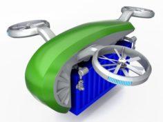 Cargo Quadrocopter Dron Concept 02 3D Model