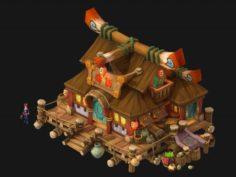 Cartoon City – pawnshop 271 3D Model