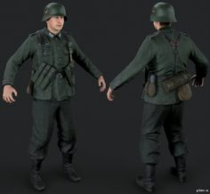 German Infantry 3D Model