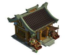 Ancient Capital Building – Drugstore 02 3D Model