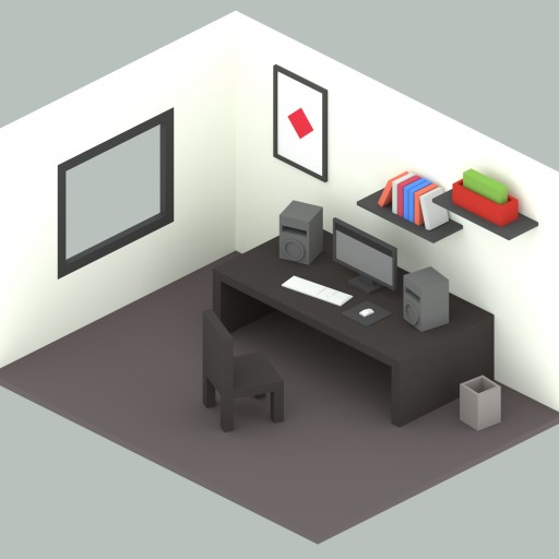Workroom - Low-poly Isometric Design Free 3D Model - 3DHunt co