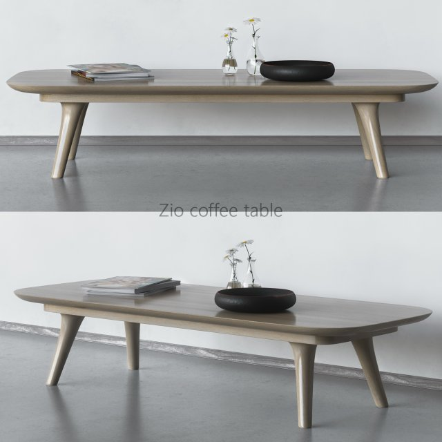 Zio coffee table 3d model for Table 85 address