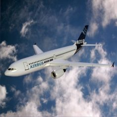 Airbus A310-300 lowpoly jetliner 3D Model