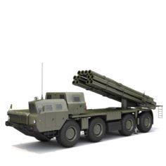 RSZO Smerch 952-2 3D Model