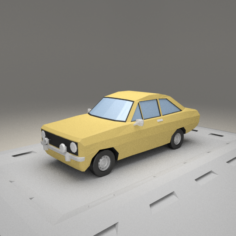 Ford Escort 1100 from 1975 3D Model