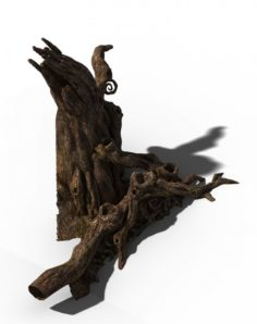 Zhongnanshan – beautiful personality tree root 01 3D Model