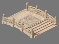 Cartoon city – stone bridge 20 3D Model