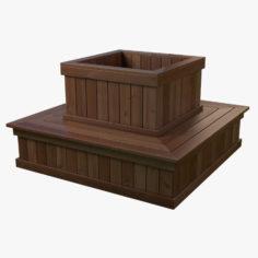 3D Planter Bench model 3D Model