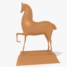 Horse Statuette Modern Styled 3D Model