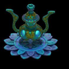 Lee pagoda – fifth floor debris – incense burner 3D Model