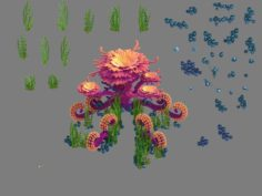 Seabed Plant – Coral Tree 003 3D Model