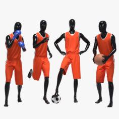 Male sport set 3D model 3D Model