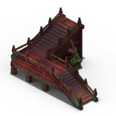 Lei pagoda – stairs – statue 3D Model
