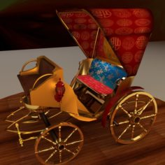 3D Chinese carriage 3D Model