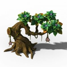Peach Blossom Island – Plant – Tree 01 3D Model