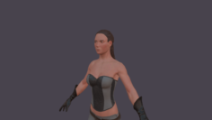 Female hero low poly 3D Model