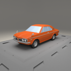 Honda 1300 Coupe 9 S from 1970 3D Model