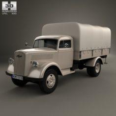 Opel Blitz Flatbed Truck 1940 3D Model