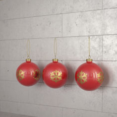 Christmas toy 02 Ball with snow flake 3D model 3D Model