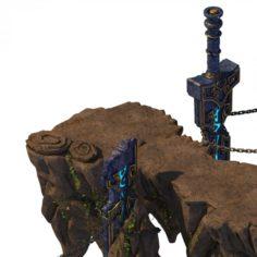 Quanzhen teach – mountain gate 3D Model