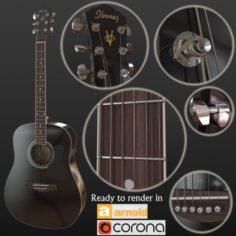 Guitar black 3D Model