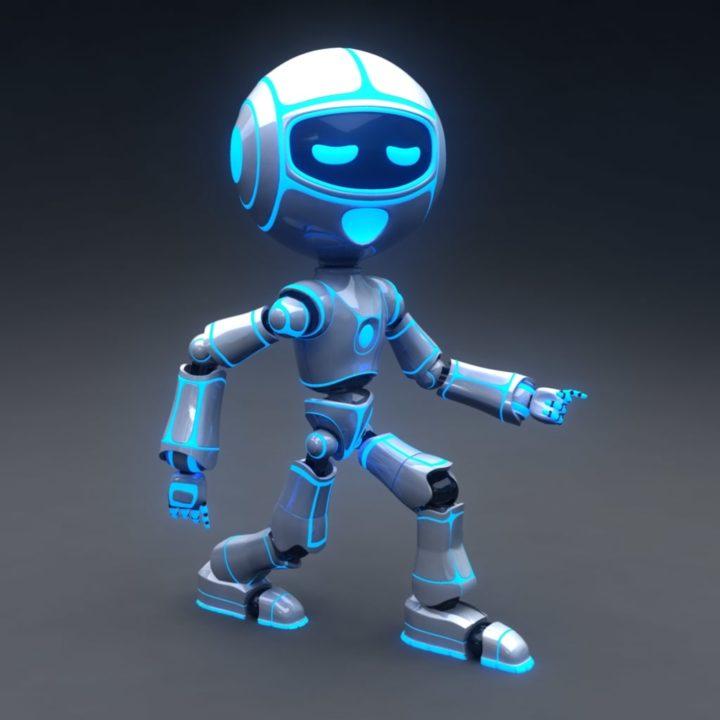 Rigged Robot 3D 3D Model - 3DHunt co