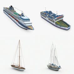 Watercraft Pack 3D Model