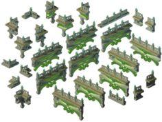 Kunlun – Square railings 01 3D Model