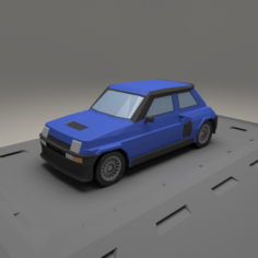 Renault 5 Turbo from 1982 3D Model