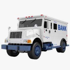 Bank Armored Truck 02 3D Model