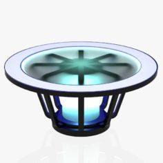 Free Virtual Tv Studio News Desk 1 3D Model