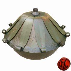 Oil Lamp 3D model 3D Model