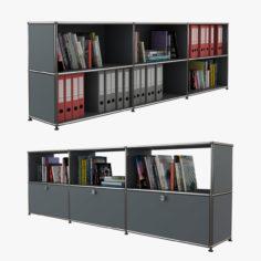Usm Modular Shelving Storage 01 3D Model
