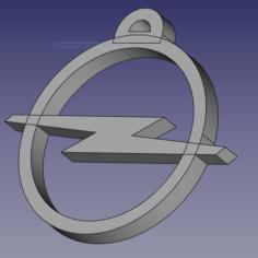 Opel car key 3D Print Model